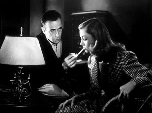 "Humphrey Bogart and Lauren Bacall in ""To Have and Have Not,"" 1945 Warner Bros."